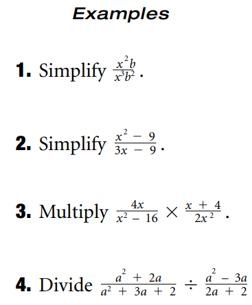 GMAT Exam Syllabus of Algebra: Rational Expressions and Equations