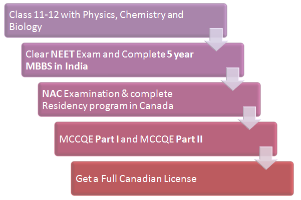 (Figure) MBBS Abroad: MBBS in Canada Pathway 1