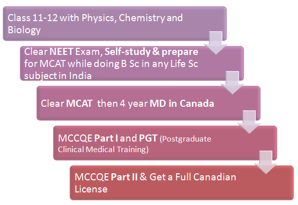 (Figure) MBBS Abroad: MBBS in Canada Pathway 2