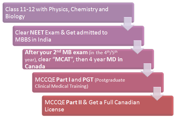(Figure) MBBS Abroad: MBBS in Canada Pathway 3