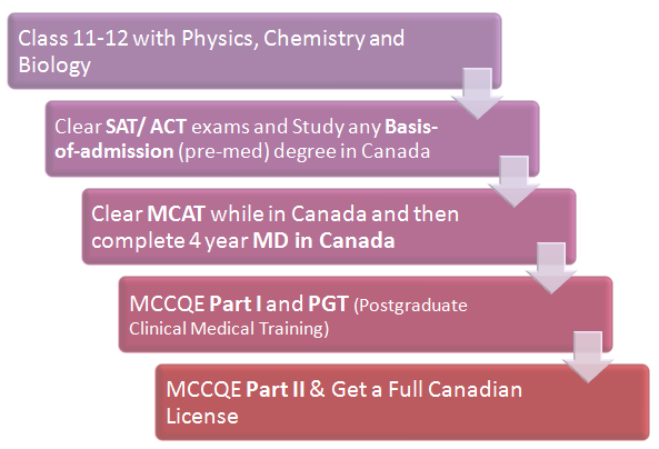 (Figure) MBBS Abroad: MBBS in Canada Pathway 5