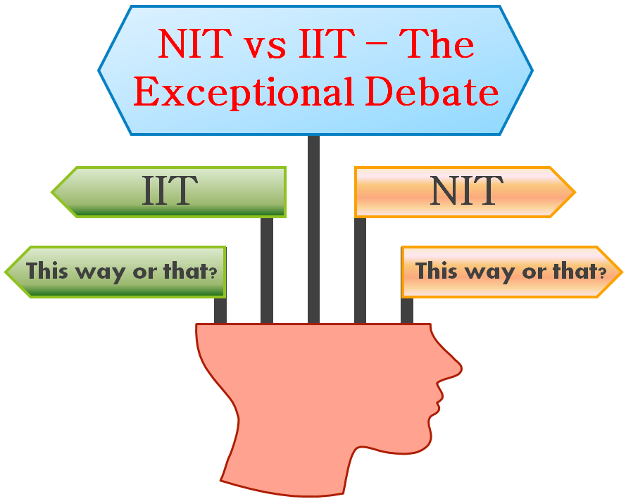 (Figure) Difference between NIT vs IIT: Which is better?