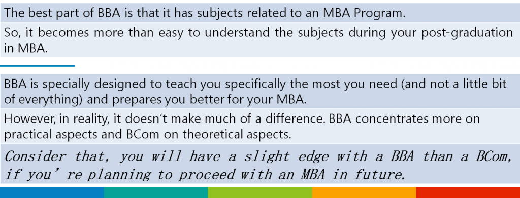 (Table)BBA vs BCom: Which Is Better For MBA?