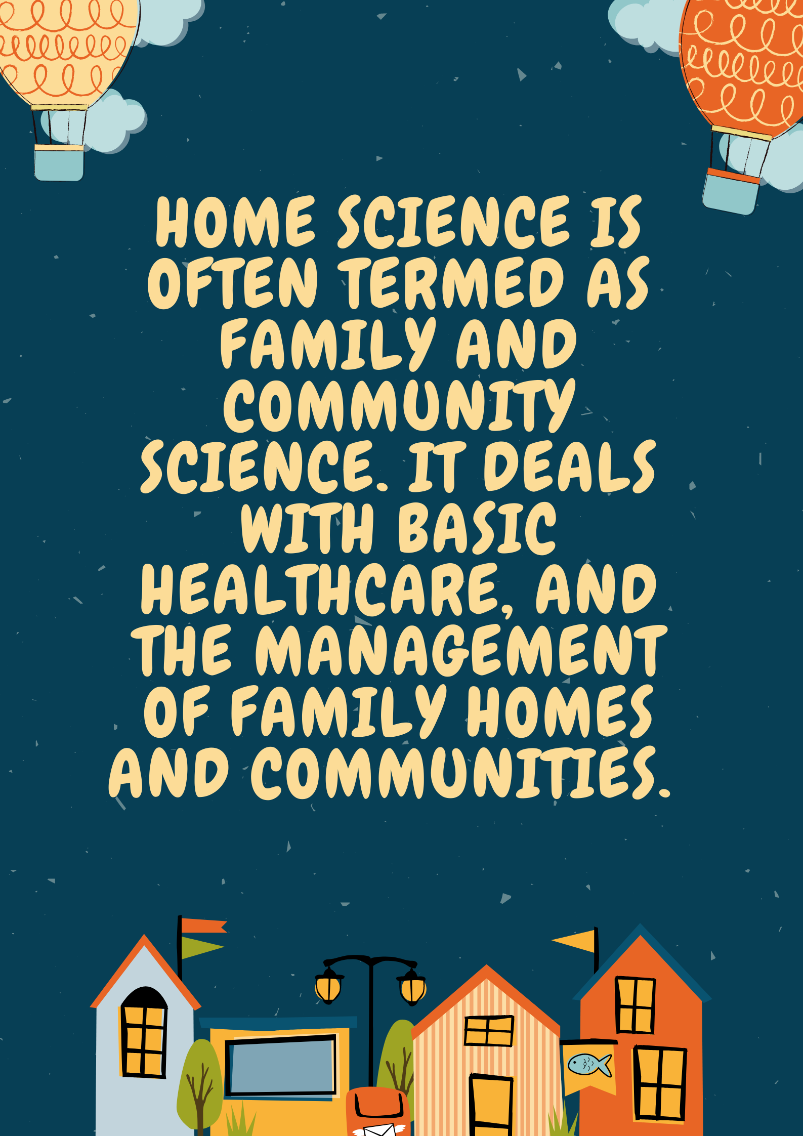 career in home science